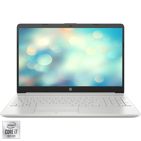 "Лаптоп HP 15-dw2021nq, 15.6"", Intel® Core™ i7-1065G7, RAM 16GB, SSD 256GB, HDD 1TB, NVIDIA® GeForce® MX330 2GB, Free DOS, Natural Silver"