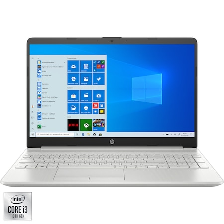 "Лаптоп HP 15-dw2033nq, 15.6"", Intel® Core™ i3-1005G1, RAM 8GB, SSD 256GB, Intel® UHD Graphics, Microsoft Windows 10 Home, Naturral Silver"
