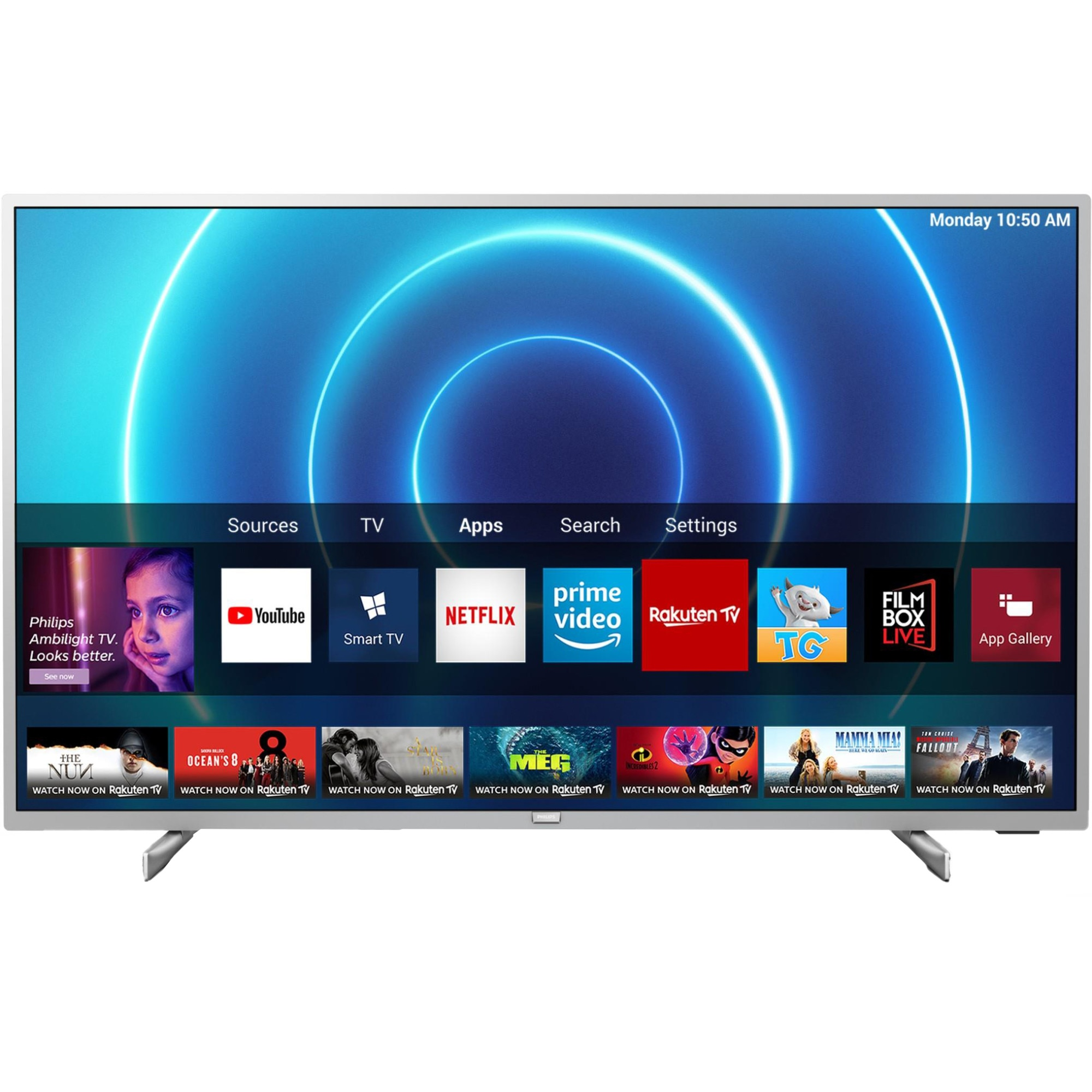 Fotografie Televizor Philips 70PUS7555/12, 178 cm, Smart, 4K Ultra HD, LED, Clasa G