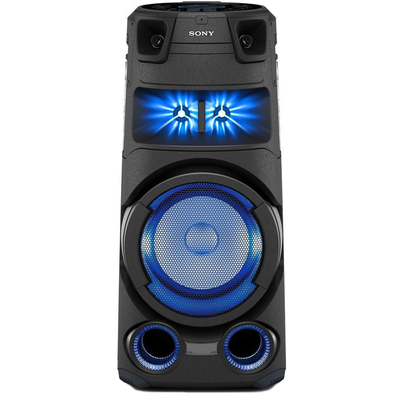 Fotografie Sistem audio High Power SONY MHC-V73D, Hi-Fi, Jet Bass Booster, Party music, Party lights, Dj Effects, Bluetooth, NFC, LDAC, USB, DVD, HDMI, Negru