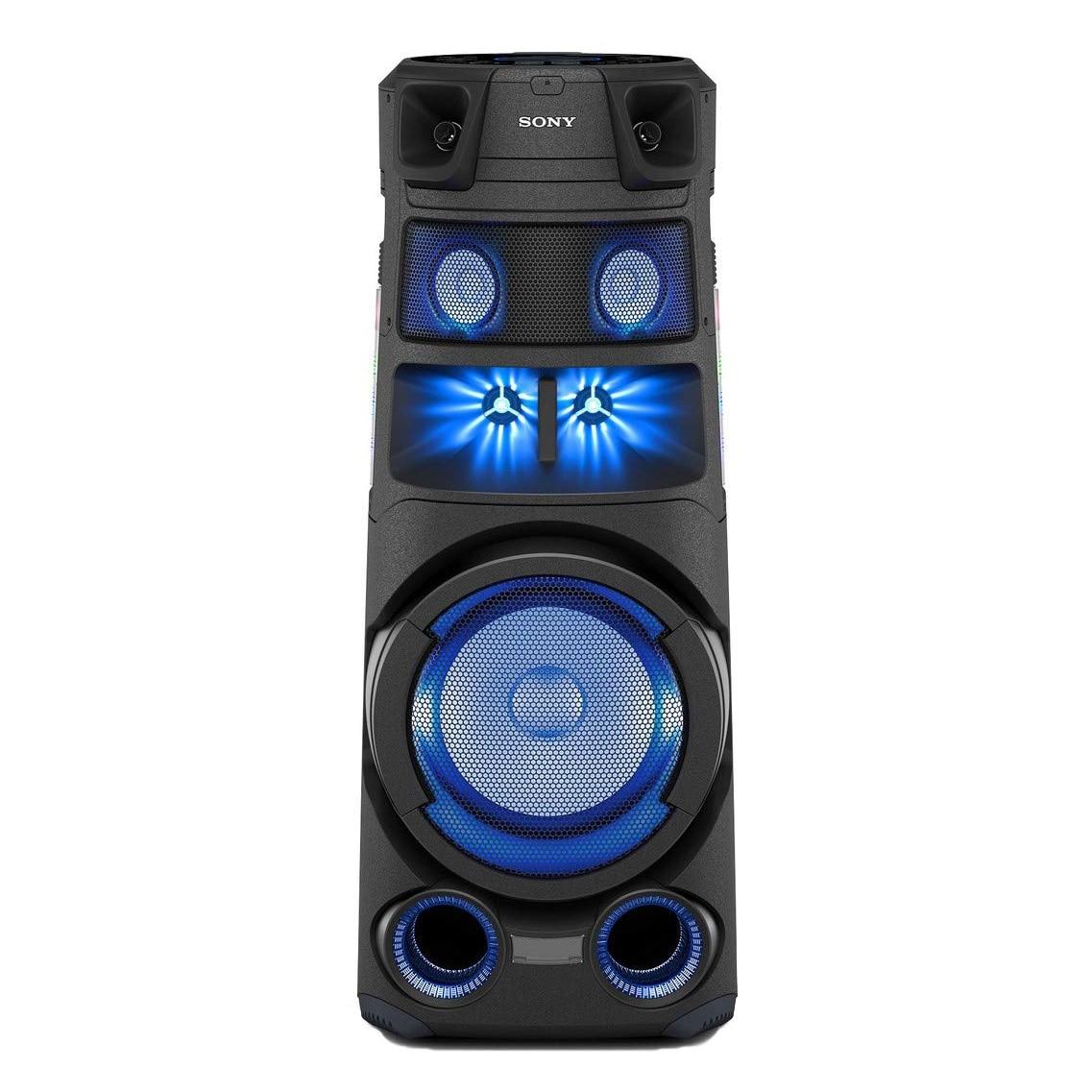 Fotografie Sistem audio High Power SONY MHC-V83D, Hi-Fi, Jet Bass Booster, Party music, Party lights, Dj Effects, Bluetooth, NFC, LDAC, USB, DVD, HDMI, Negru