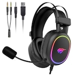 Геймърски слушалки Havit GAMENOTE H2016D, RGB, PS4, PC, XBOX