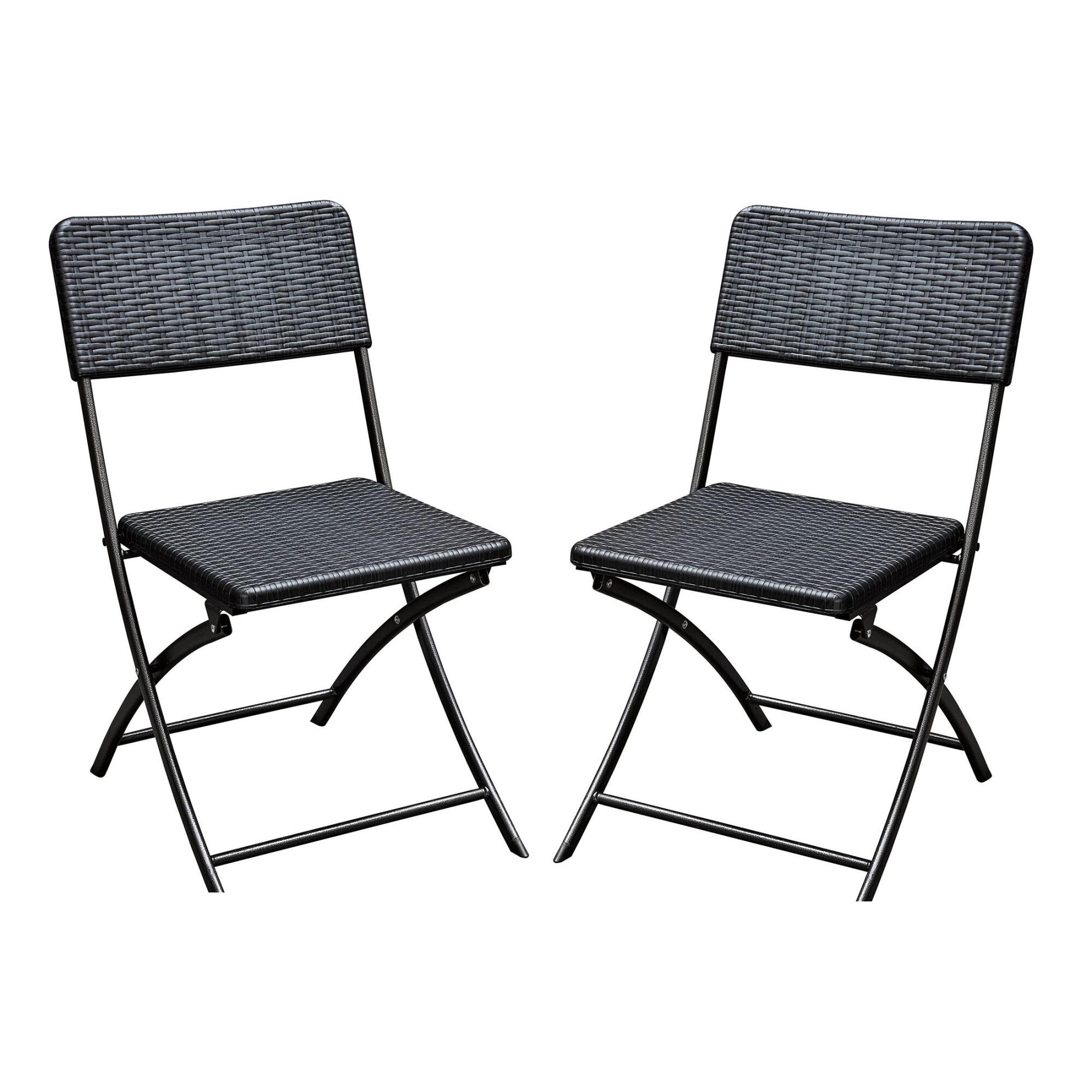 Fotografie Set 2 bucati scaun pliant gradina/terasa/curte, Kring Banquette, 57x44.5x80.5, metal/plastic