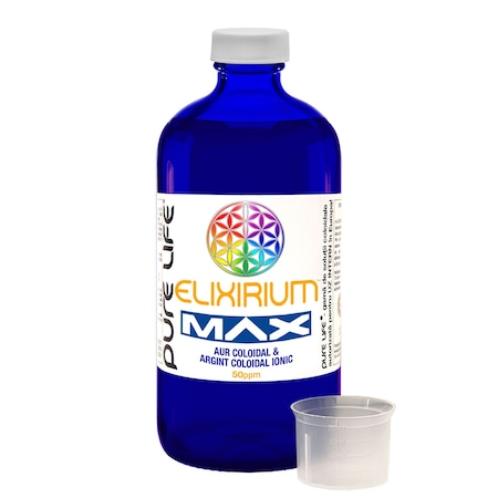 Elixirium Max 50 PPM - Arany és Ezüst Kolloid 480 ml
