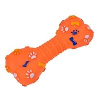 Играчка за кучета, Кокал със звук, Гума, 21 см, Оранжев