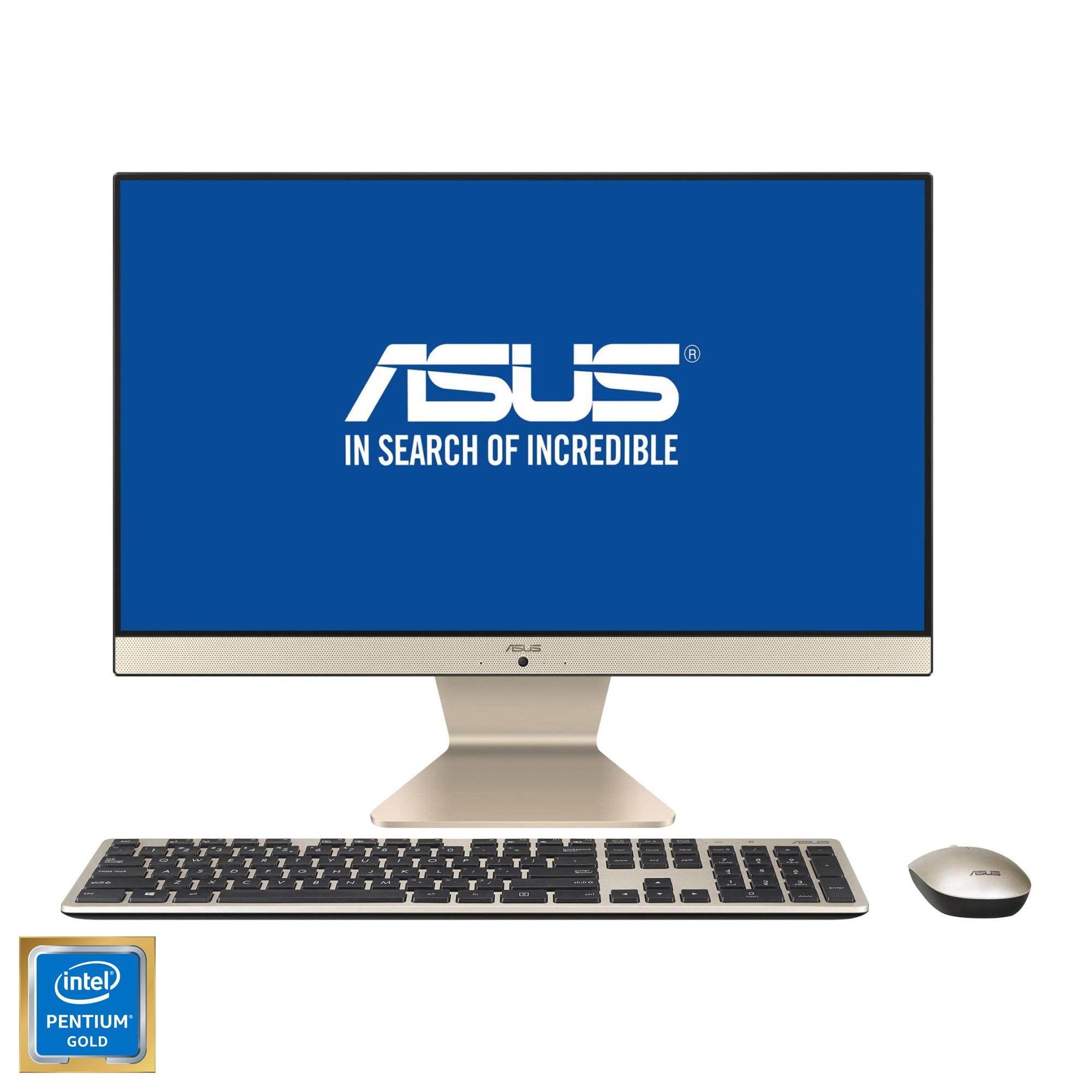 "Fotografie Sistem All-in-One ASUS V222FAK cu procesor Intel® Pentium® Gold 6405U 2.40 GHz, Comet Lake, 21.5"", Full HD, IPS, 4GB DDR4, 256GB SSD, Intel® UHD Graphics, Endless OS"