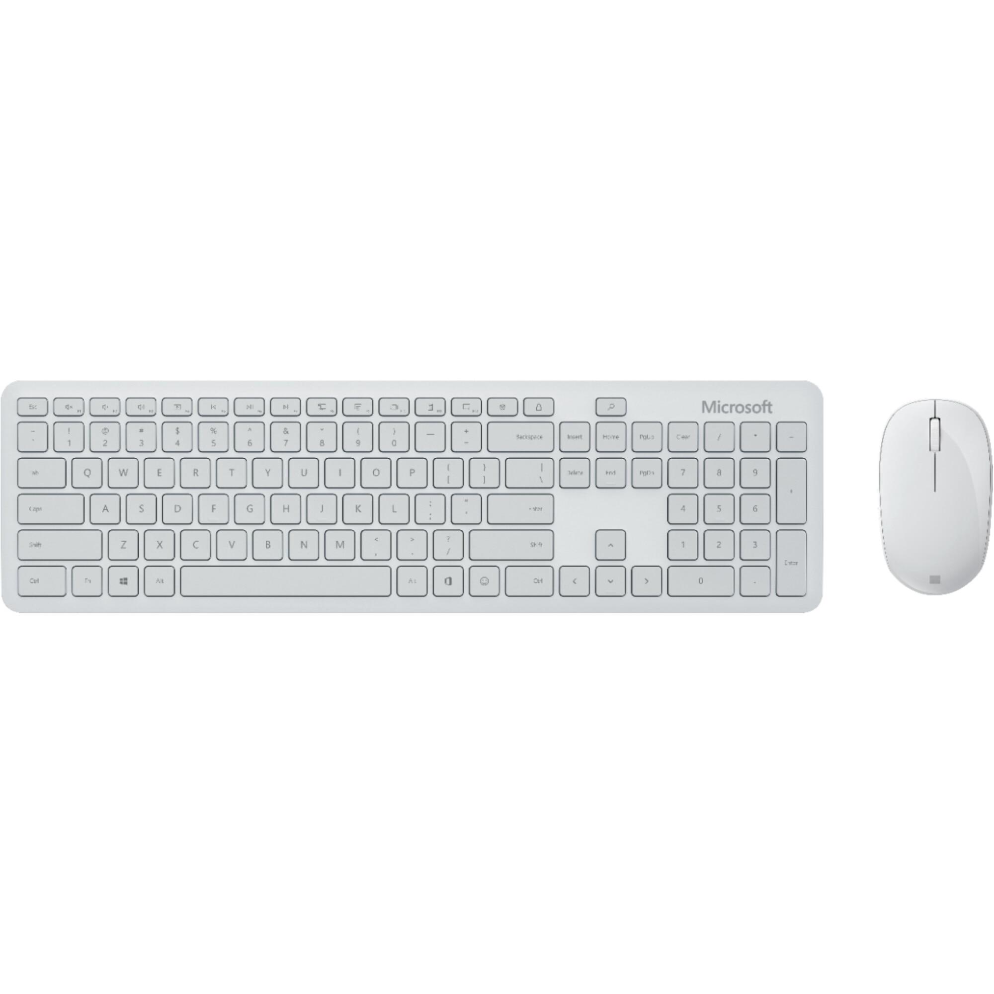 Fotografie Kit Tastatura + Mouse Microsoft Desktop, Bluetooth, Glacier