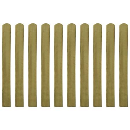 Set de 20 sipci de gard, vidaXL, Lemn de pin tratat, 9 x 100 cm, Maro