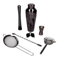 8 el shaker párizsi csapos szett - fekete fényű