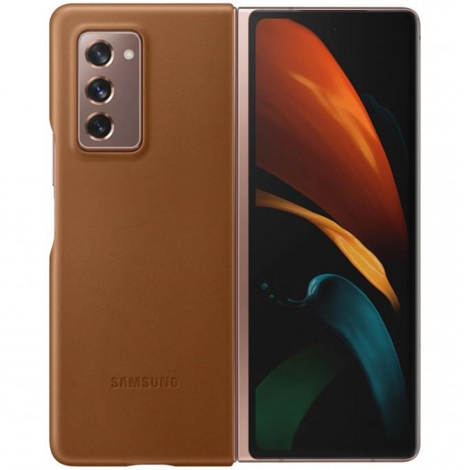 Fotografie Husa de protectie Samsung Leather Cover pentru Galaxy Fold 2, Brown
