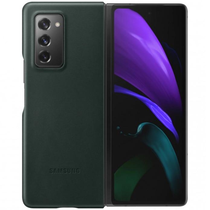 Fotografie Husa de protectie Samsung Leather Cover pentru Galaxy Fold 2, Green