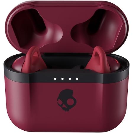 Casti Audio In ear Skullcandy Indy Evo, True wireless, Bluetooth, Functie Bass, Microfon, Autonomie 6 ore, Deep Red