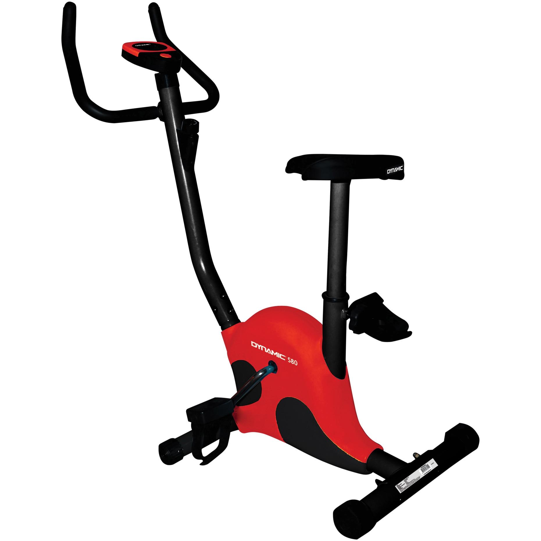 Fotografie Bicicleta fitness Dynamic S80, culoare negru-rosu