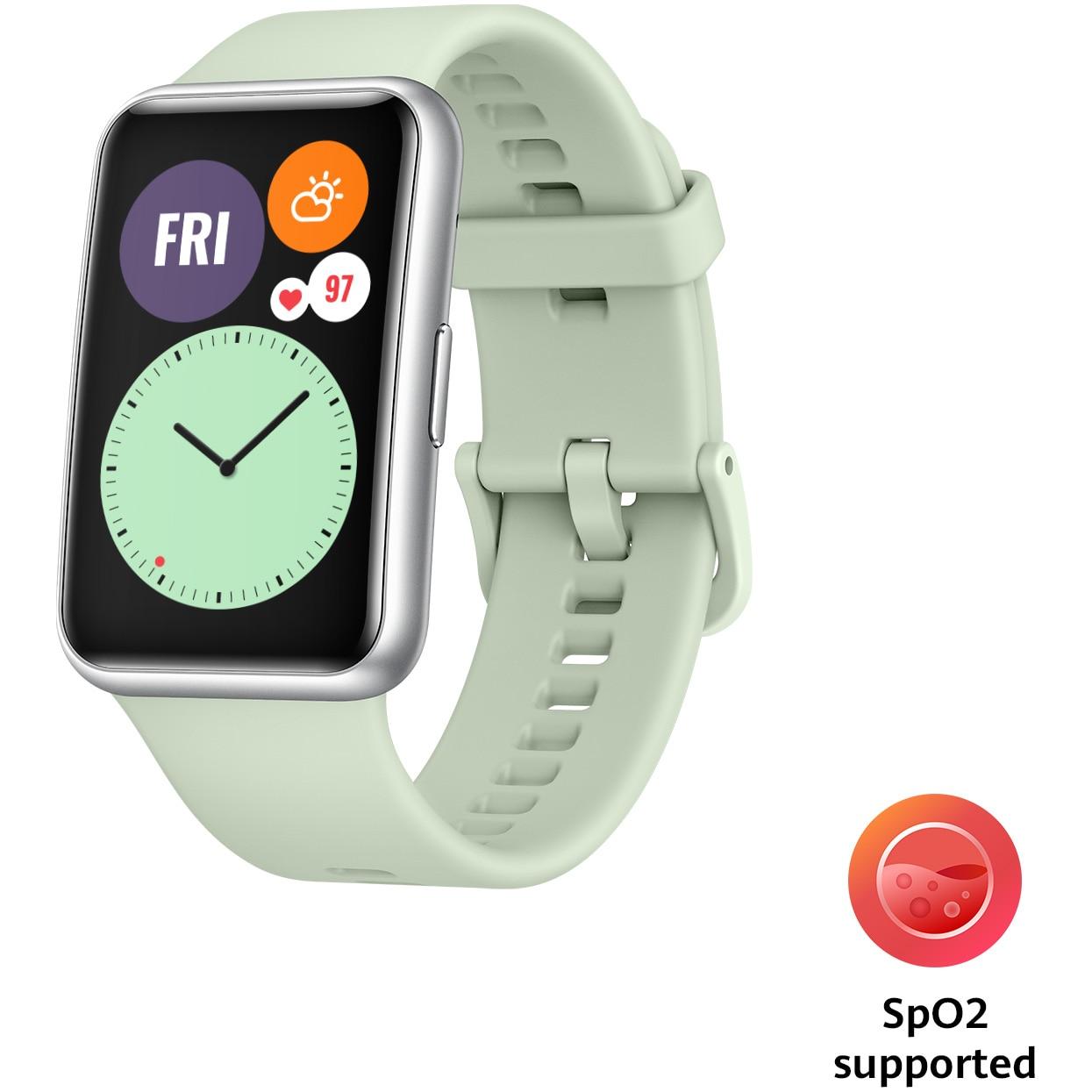 Fotografie Ceas smartwatch Huawei Watch Fit, Mind Green