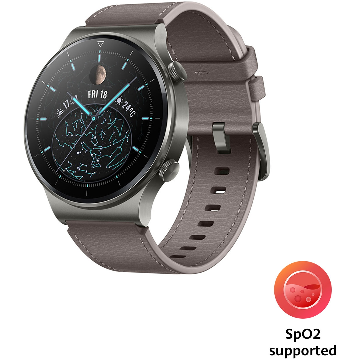 Fotografie Ceas smartwatch Huawei Watch GT 2 Pro, Nebula Gray