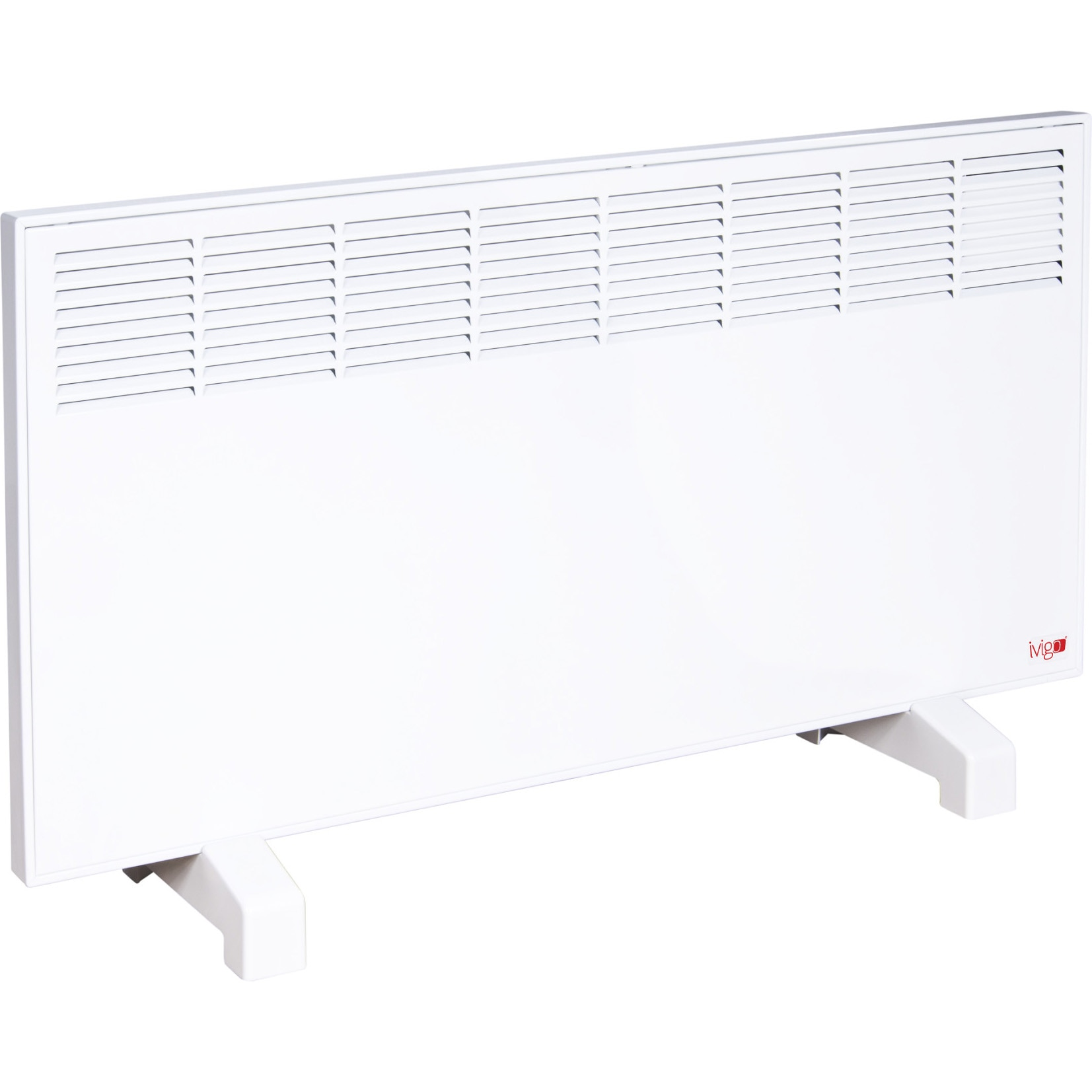Fotografie Convector iVigo Manual EPK 2500 W White, control mecanic, Termostat de siguranta, termostat reglabil, IP 24, pentru 28 mp, ERP 2018