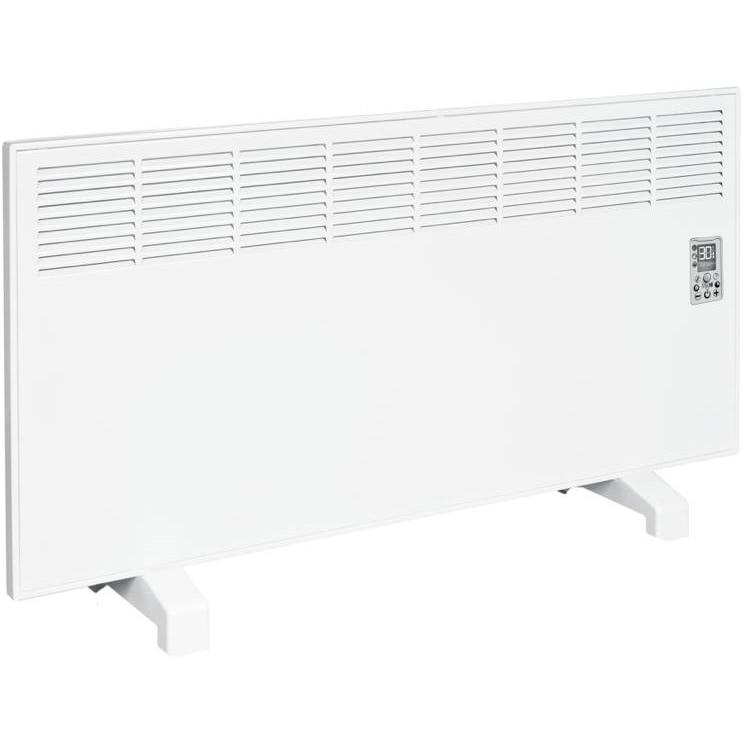 Fotografie Convector de perete sau pardoseala iVigo Profesional EPK 2500 W White, control electronic, Termostat de siguranta, termostat reglabil, IP 24, pentru 28 mp, ERP 2018