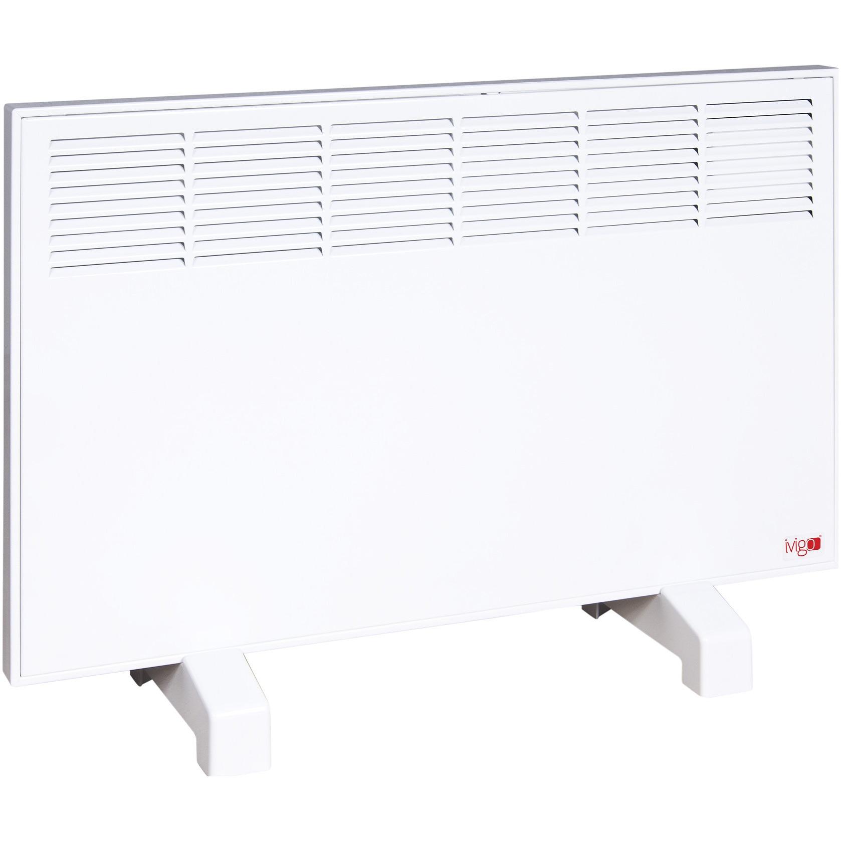 Fotografie Convector Vigo Manual EPK 1500 W White, control mecanic, Termostat de siguranta, termostat reglabil, IP 24, pentru 17 mp, ERP 2018