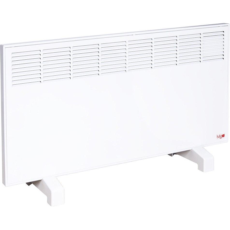 Fotografie Convector Vigo Manual EPK 2000 W White, control mecanic, Termostat de siguranta, termostat reglabil, IP 24, pentru 24 mp, ERP 2018