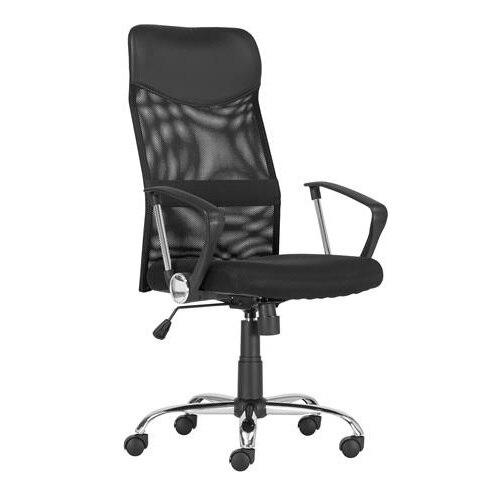Sidro Modern irodai szék fekete színben lábtartóval. Magas m