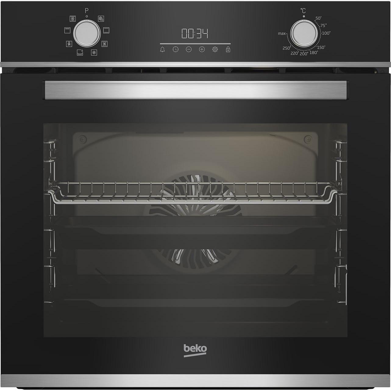 Fotografie Cuptor incorporabil Beko BBIM13300XM, Electric, 72 l, Autocuratare catalitica, Display touch control, SteamShine Cleaning, Grill, 3D Cooking, Clasa A, Sticla neagra