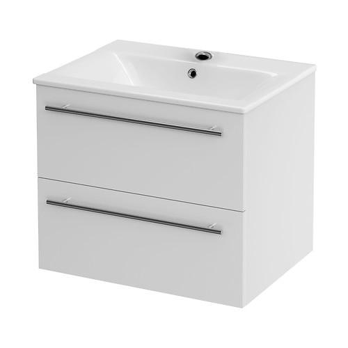 Fotografie Set baza mobilier Cersanit Gracja + lavoar Cersanit Ontario 499, MDF, sertare soft close, 60cm, Alb