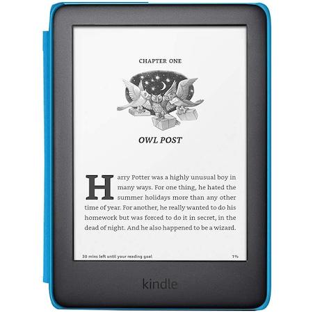 """eBook четец Kindle Kids Edition 6"""" 2019, 167 ppi, 8 GB, Син калъф"""