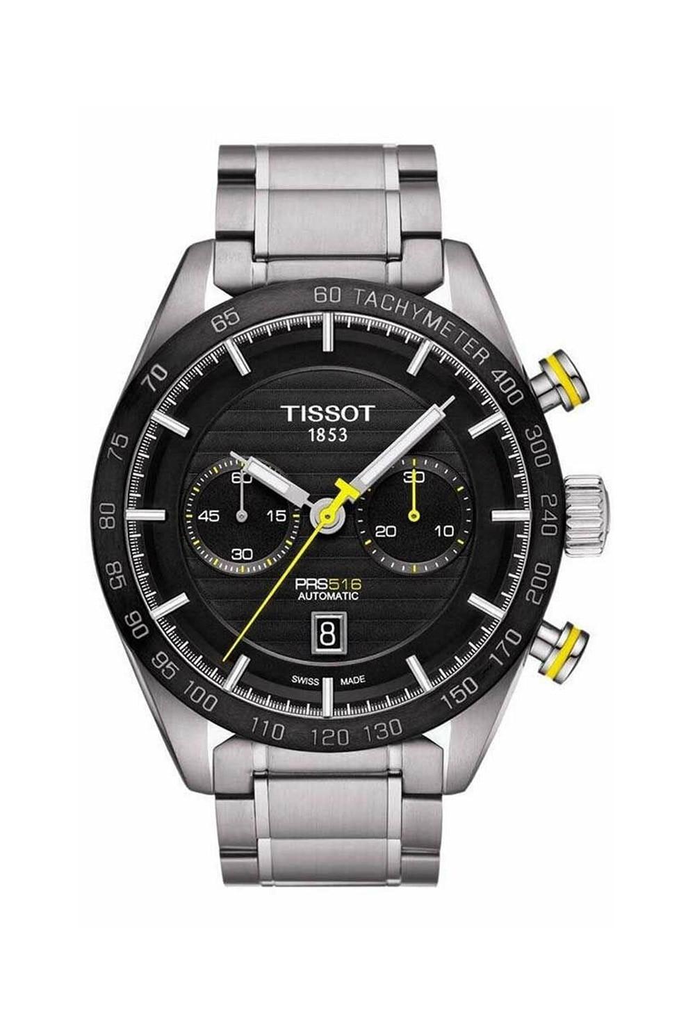Fotografie Tissot, Ceas cronograf automatic cu tahimetru, Argintiu