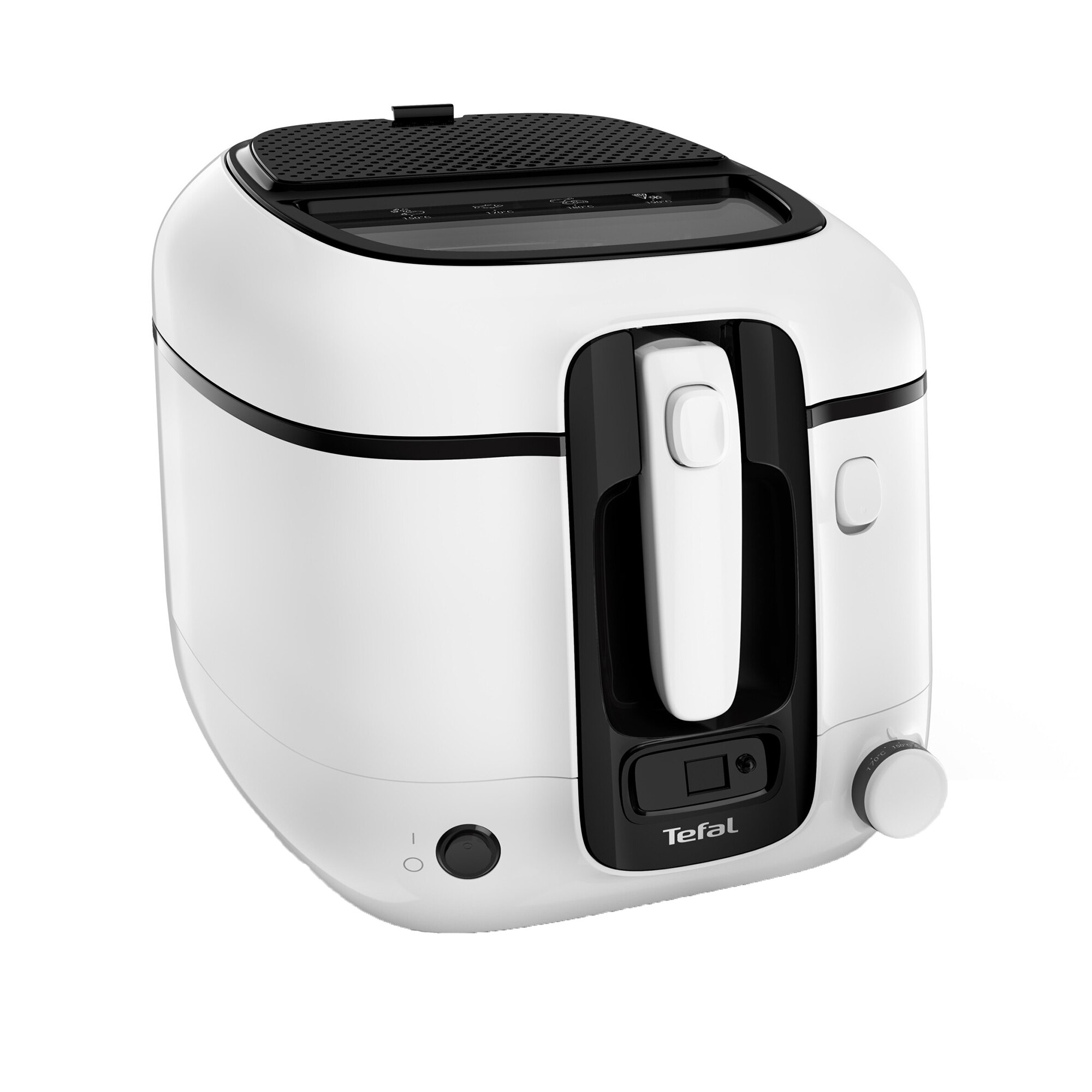 Fotografie Friteuza TEFAL Super Uno FR314030, capacitate preparare 1.5KG, filtru miros, termostat ajustabil 190°C, Alb