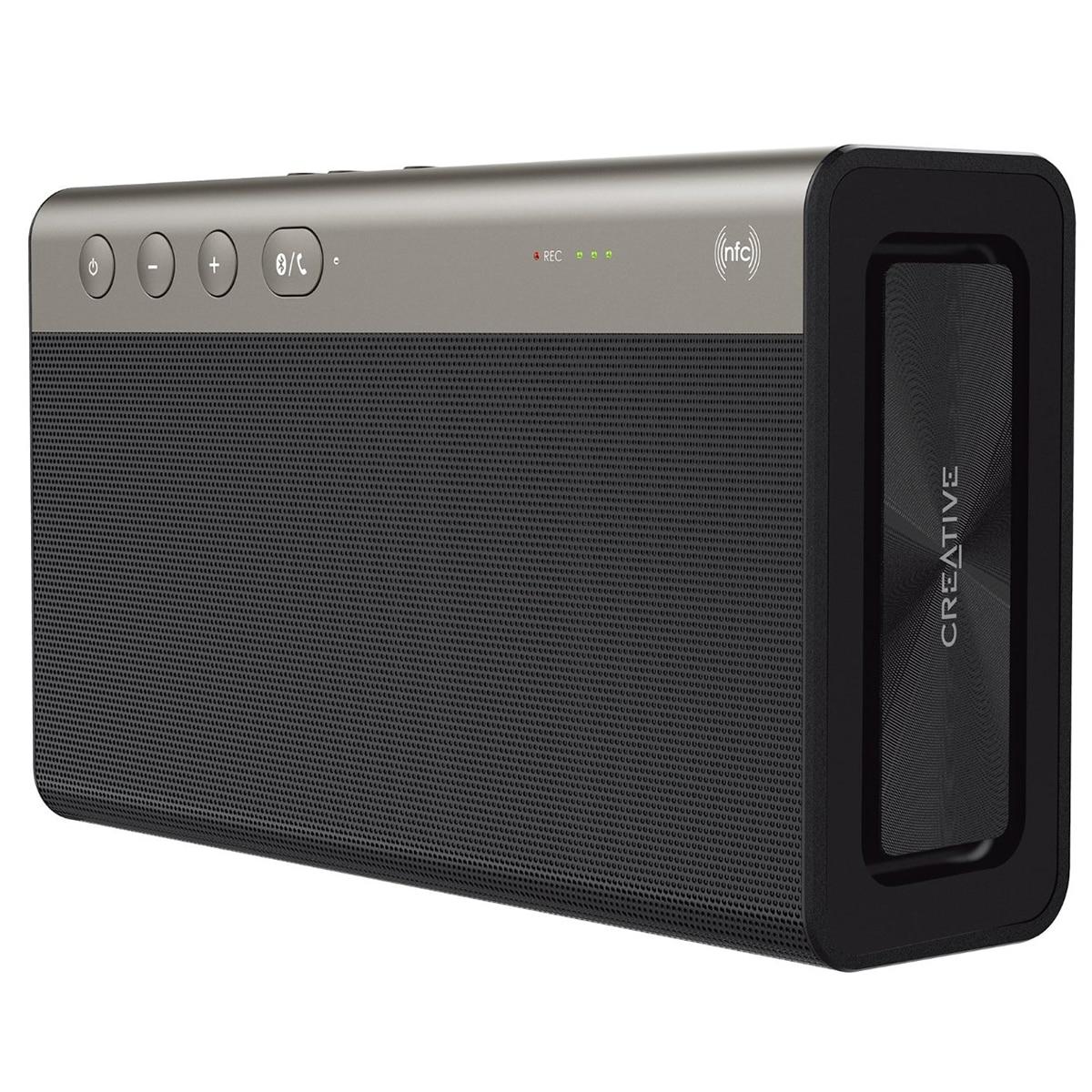 Fotografie Boxa portabila wireless Creative Sound Blaster Roar 2 CLE-R, Bluetooth, NFC, Powerbank, MicroSD reader, Black