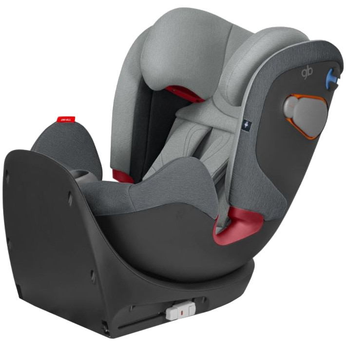 Fotografie Scaun auto ISOFIX gb Uni-All London Grey, 0-36 kg, Gri
