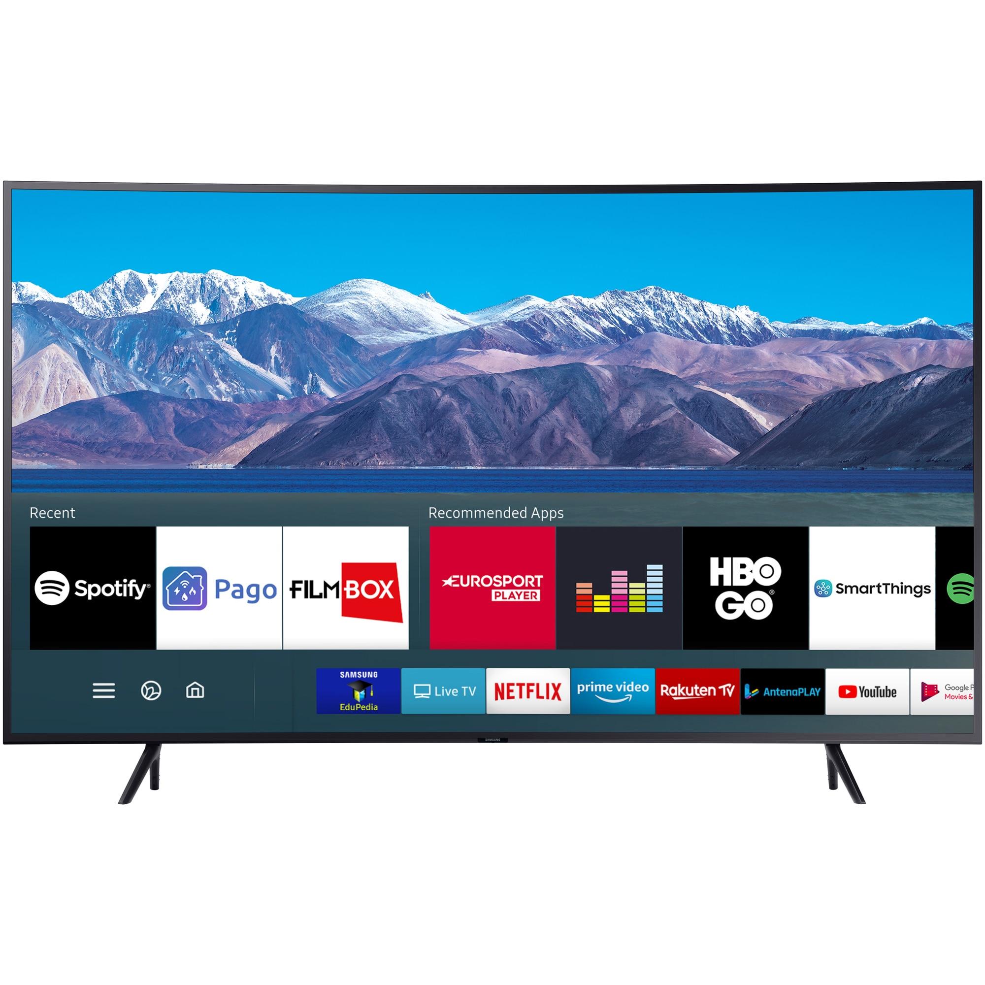 Fotografie Televizor Samsung curbat 65TU8372, 163 cm, Smart, 4K Ultra HD, LED, Clasa A+