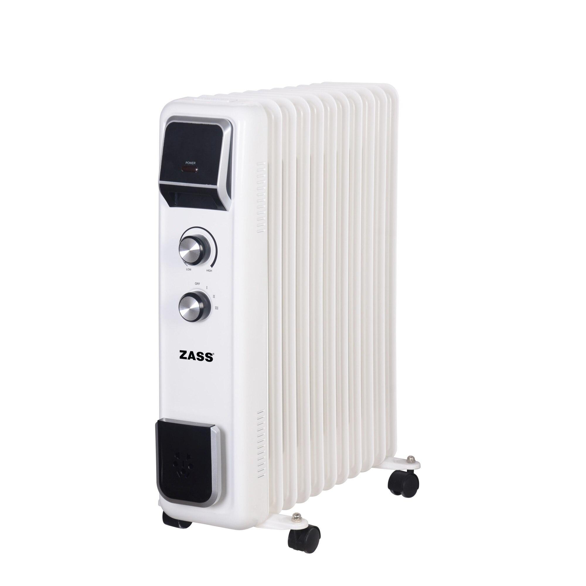Fotografie Calorifer electric cu ulei Zass ZR 11 E, 2500 W, 11 elementi, termostat reglabil, protectie la supraincalzire