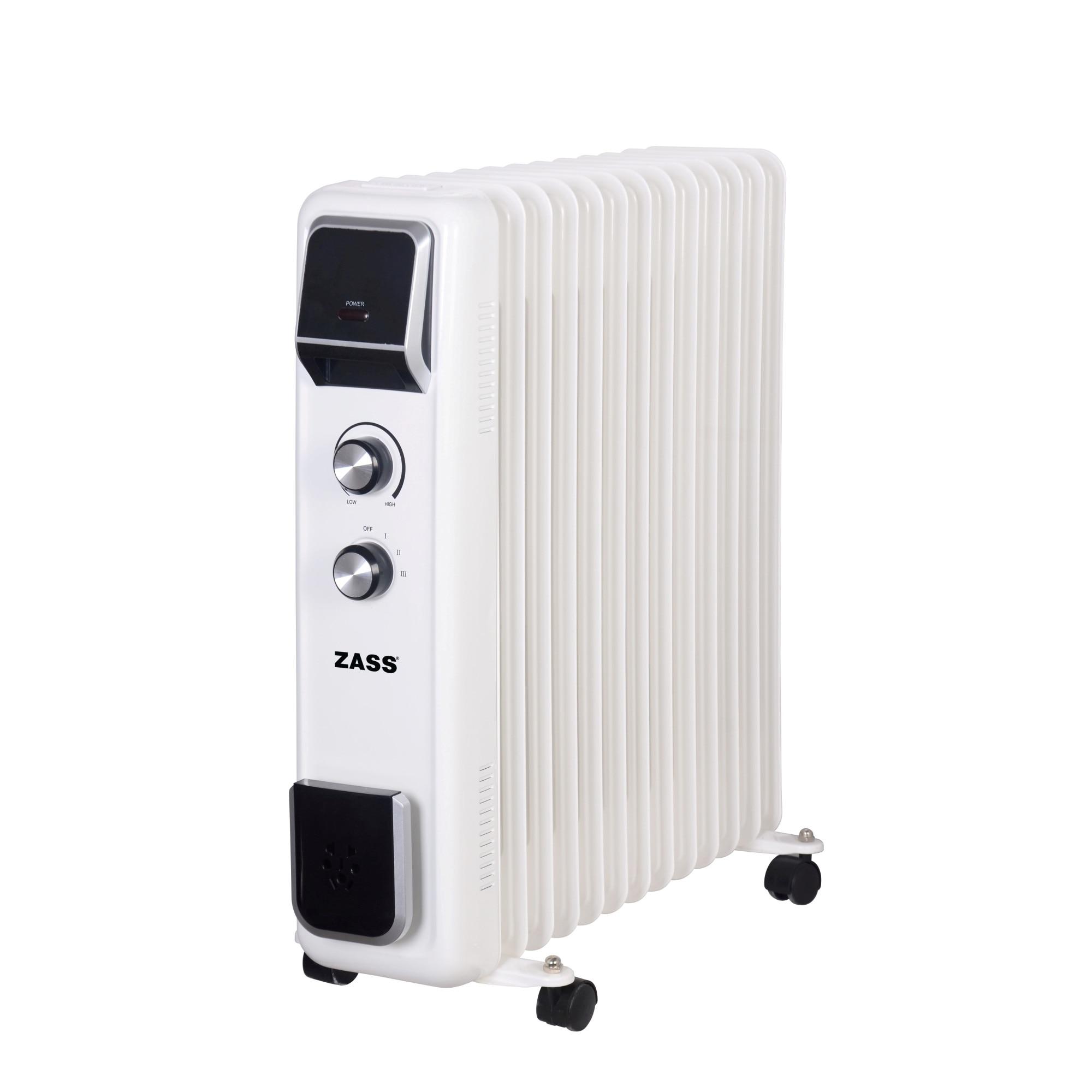 Fotografie Calorifer electric cu ulei Zass ZR 13 E, 2600 W, 13 elementi, termostat reglabil, protectie la supraincalzire