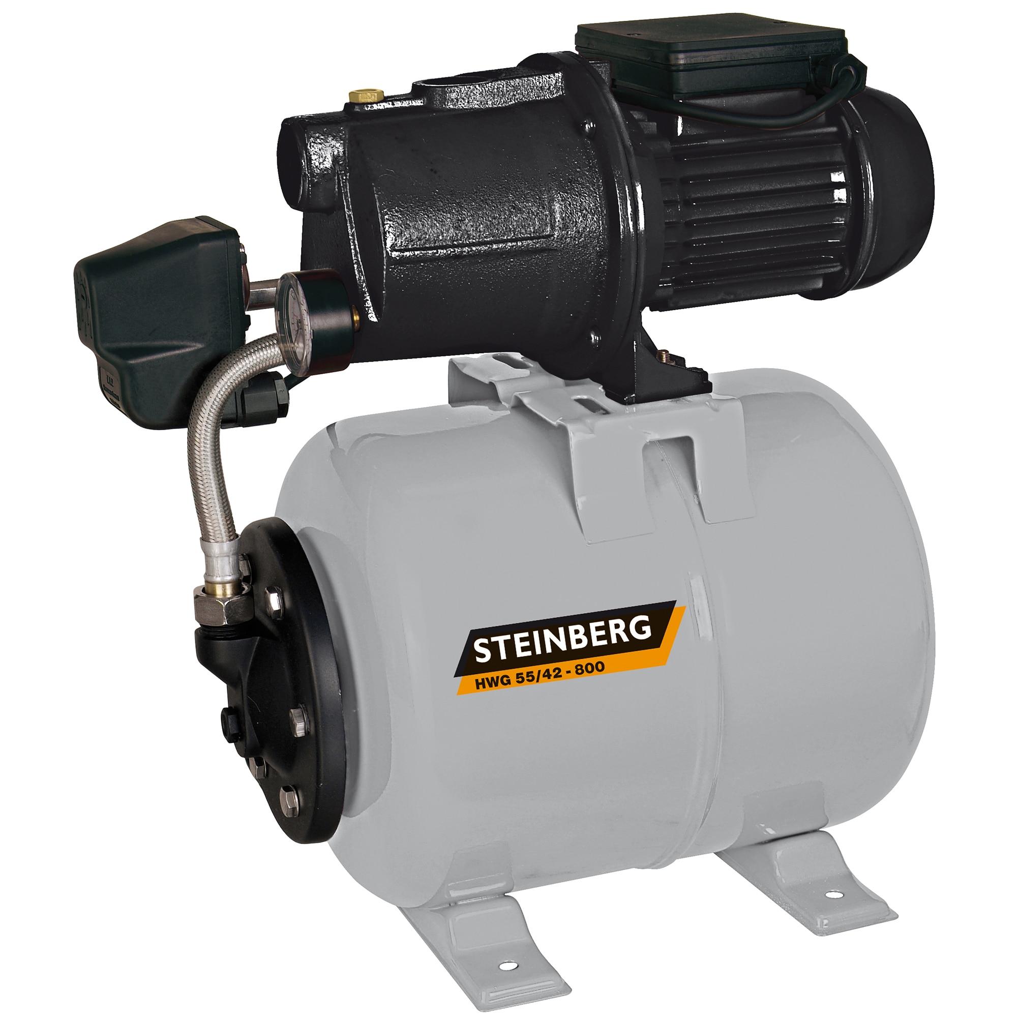 Fotografie Hidrofor Steinberg HWG 55/42-800, 800W, 22L, debit max. 3.300l/h, 4,2 bar