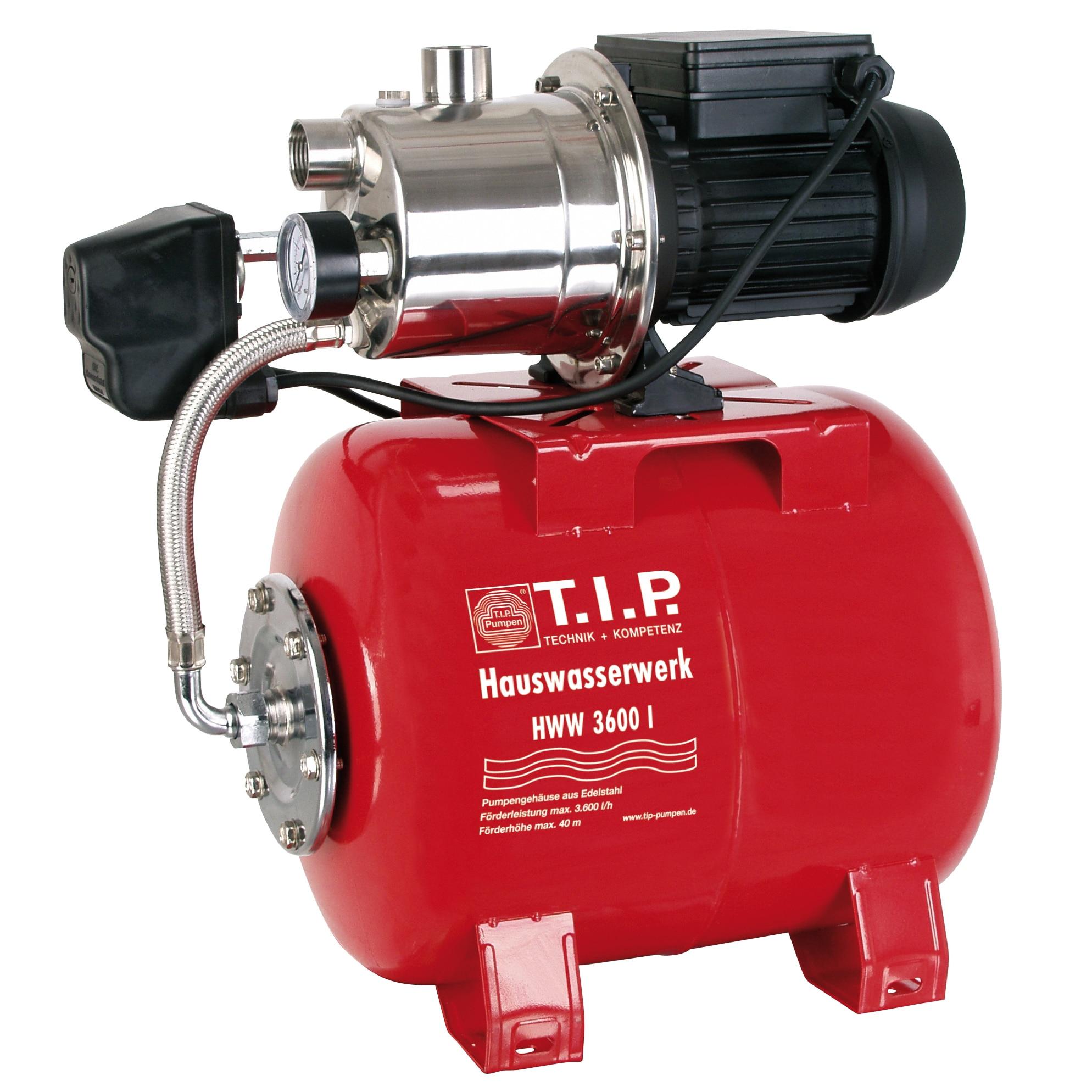 Fotografie Hidrofor T.I.P.Special HWW 3600 I, 650W, 18L, debit max. 3600l/h, 4 bar