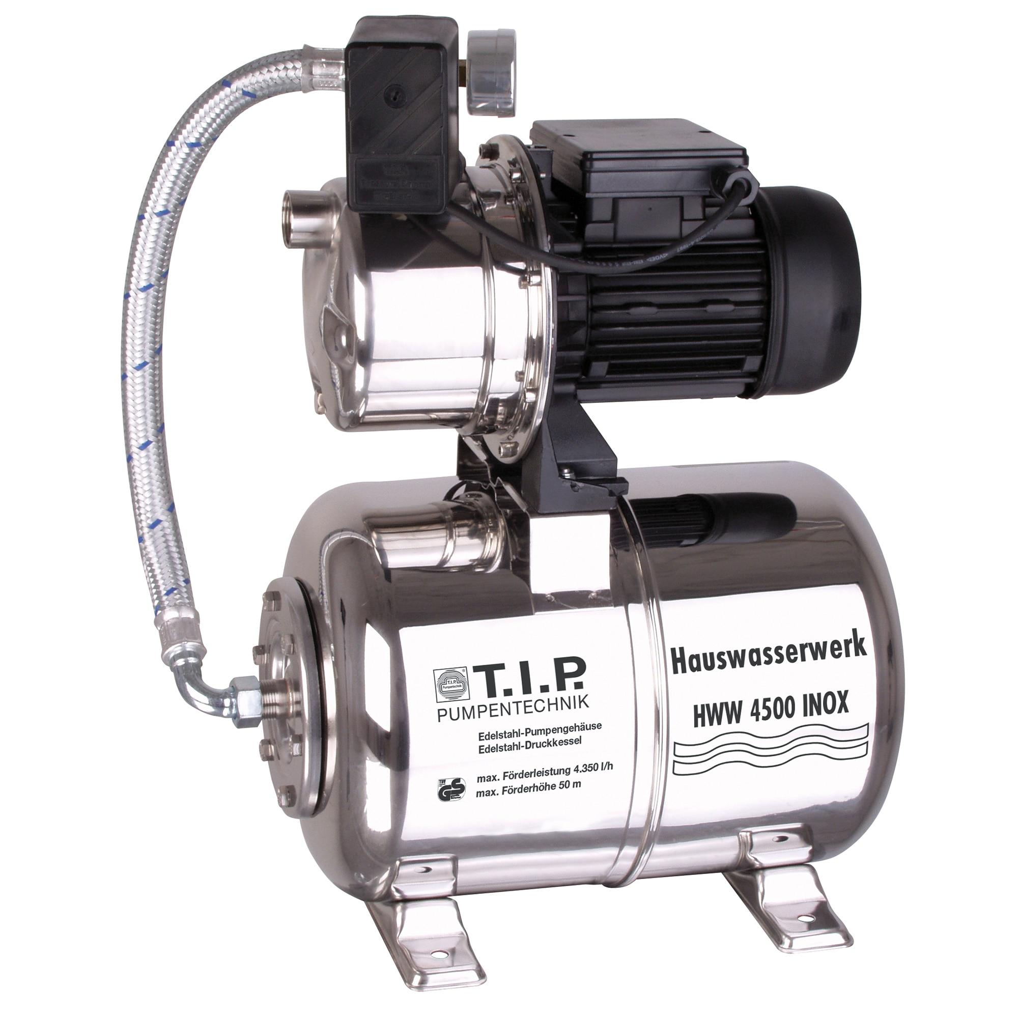 Fotografie Hidrofor T.I.P.Special HWW 4500 Inox, 1200W, debit max. 4350l/h, 5 bar