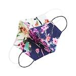 Set 2 masti protectie faciala reutilizabile pentru copii, Emily G, din bumbac cu imprimeu floral