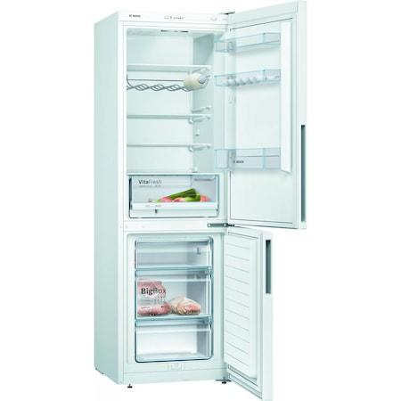 Хладилник с фризер Bosch KGV36VWEA, 308 л, Клас A++, Low Frost, H 186 см, Бял