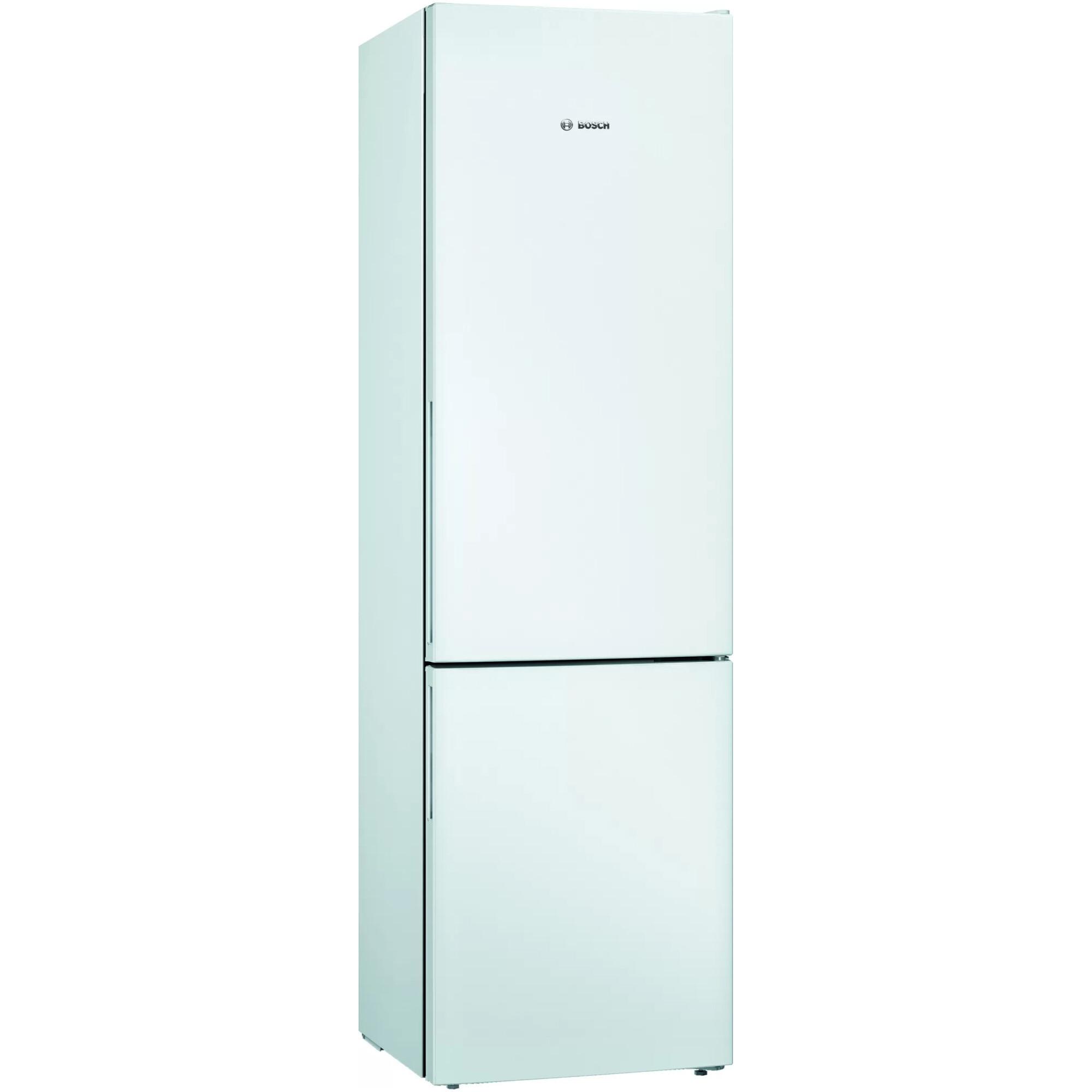 Fotografie Combina frigorifica Bosch KGV39VWEA, 343 l, Clasa E, Low Frost, VitaFresh, H 201 cm, Alb
