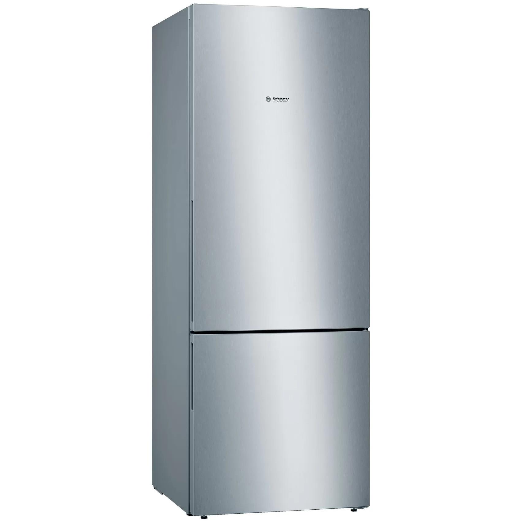Fotografie Combina frigorifica Bosch KGV58VLEAS, 503 l, Clasa E, Low Frost, VitaFresh, H 191 cm, Argintiu