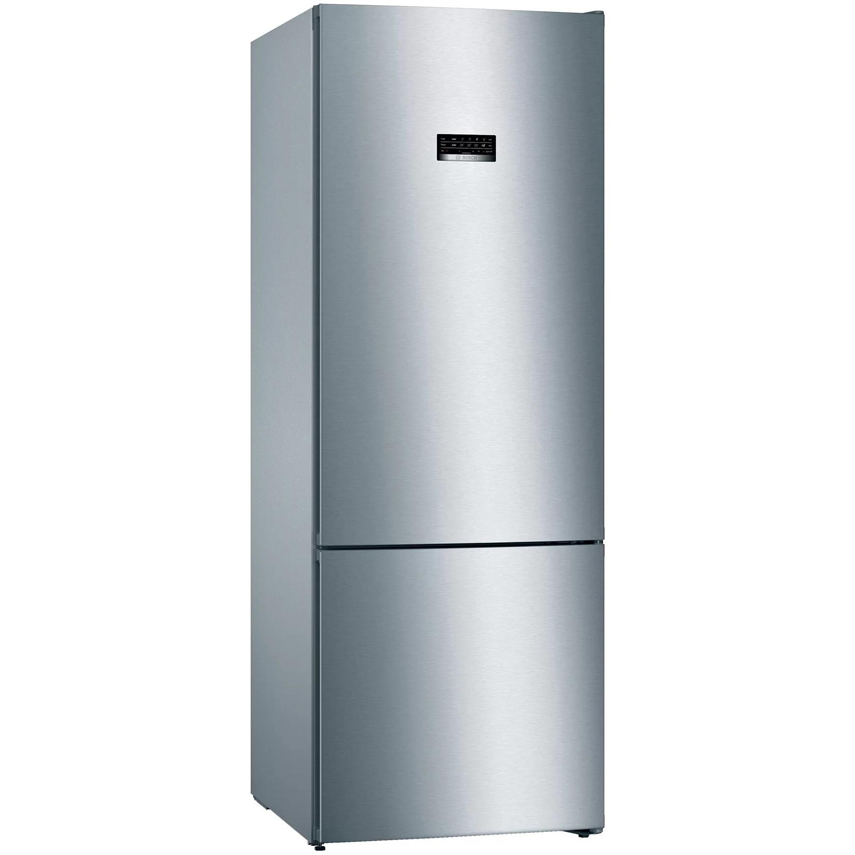 Fotografie Combina frigorifica Bosch KGN56XLEA, 508 l, Clasa E, NoFrost, VitaFresh, H 193 cm, Argintiu