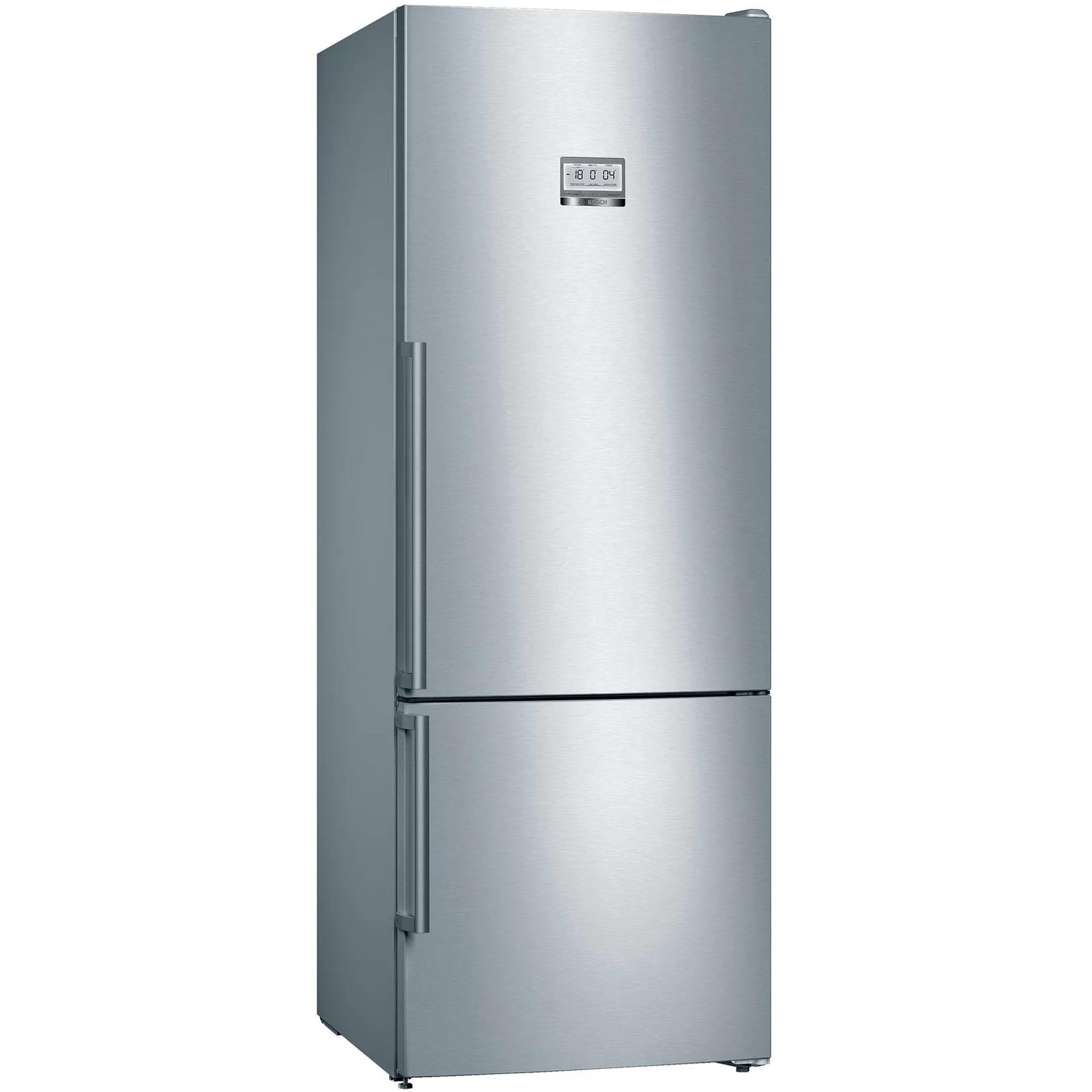 Fotografie Combina frigorifica Bosch KGF56PIDP, 483 l, Clasa D, NoFrost, VitaFresh, H 193 cm, Inox antiamprenta