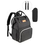 Чанта за количка NEVEQ, Раница за бебешки принадлежности, черна
