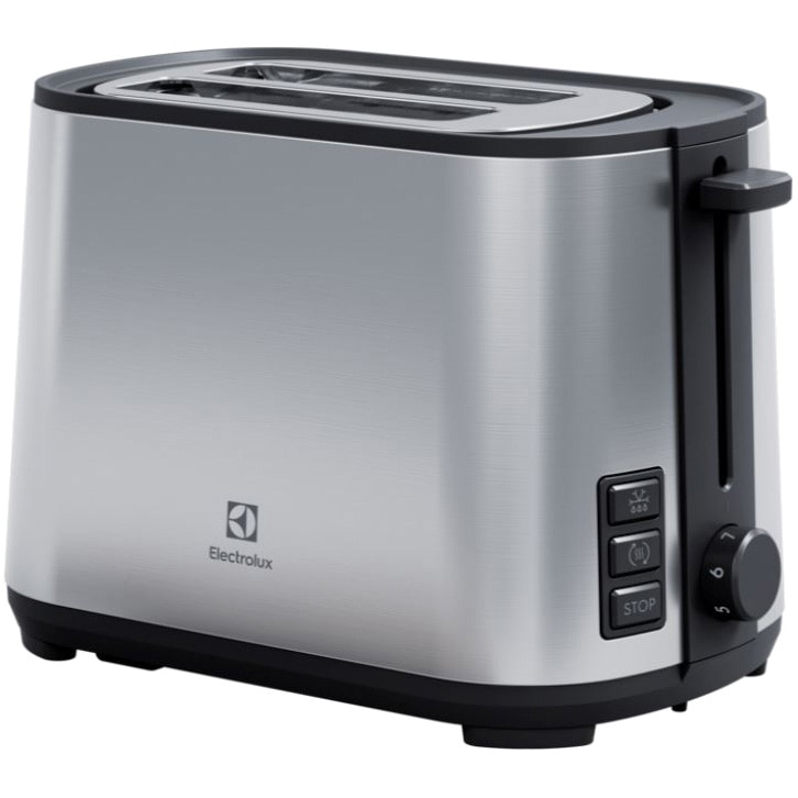 Fotografie Prajitor de paine Electrolux E4T1-4ST, 925W, 2 felii, 7 setari temperatura, Inox