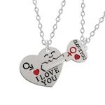 """Szív és kulcs 'I love you"""" nyaklánc pároknak, 2 db"""