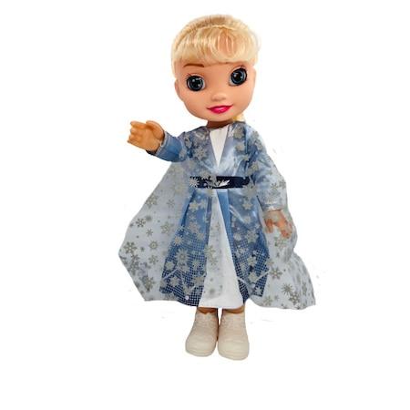 Papusa Disney Frozen 2, Elsa cu ochii de sticla, 35cm, ISP204Z