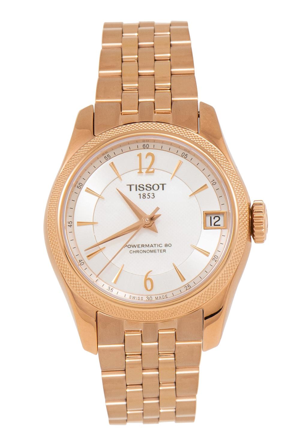 Fotografie Tissot, Ceas automatic din otel inoxidabil Couturier, Auriu rose