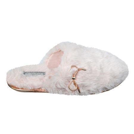 Papuci dama, Zola®, blana pufoasa, roz-auriu, memori foam, marimea 36-37