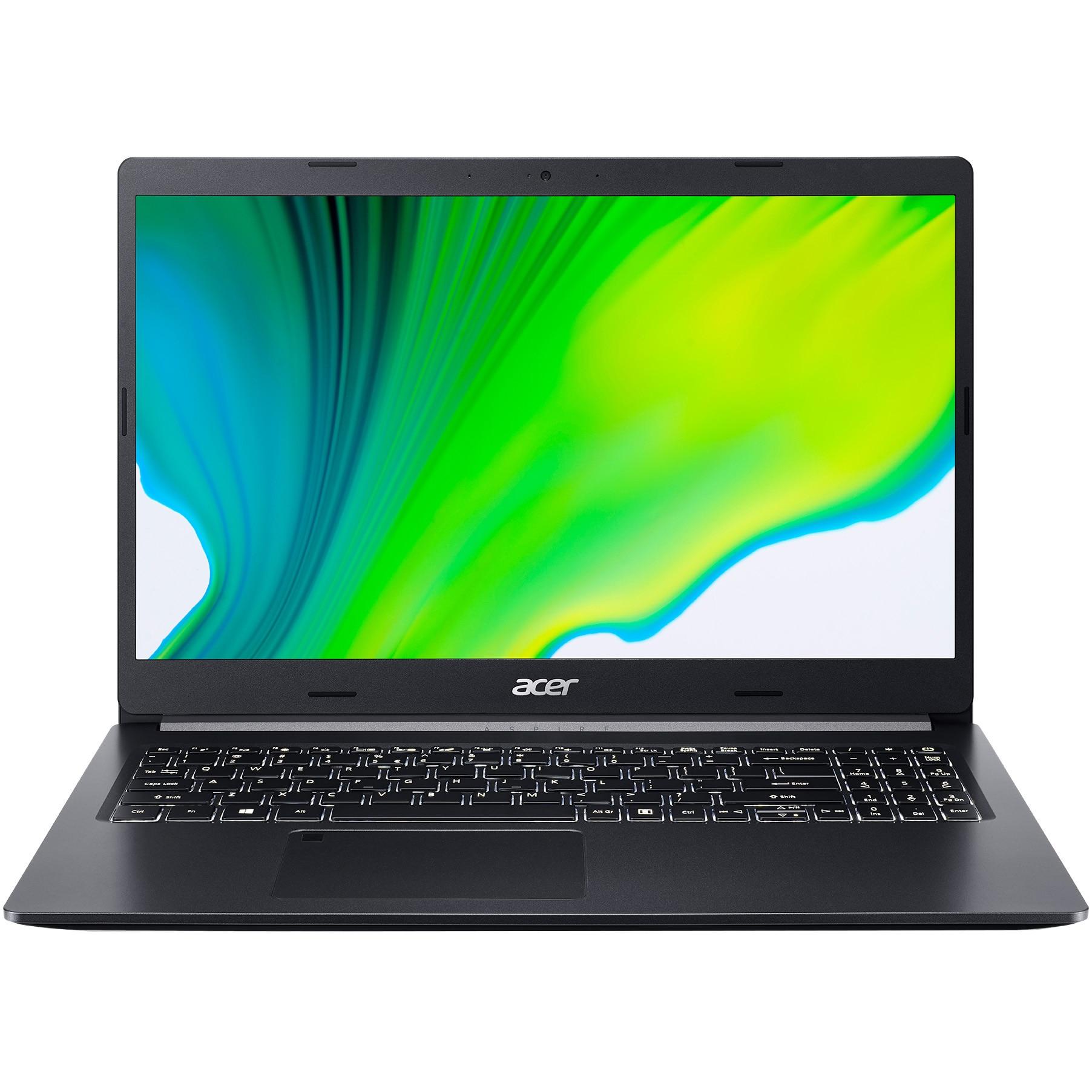"Fotografie Laptop Acer Aspire 5 A515-44 cu procesor AMD Ryzen 7 4700U pana la 4.10 GHz, 15.6"", Full HD, 16GB, 512GB SSD, AMD Radeon™ Graphics, No Os, Black"